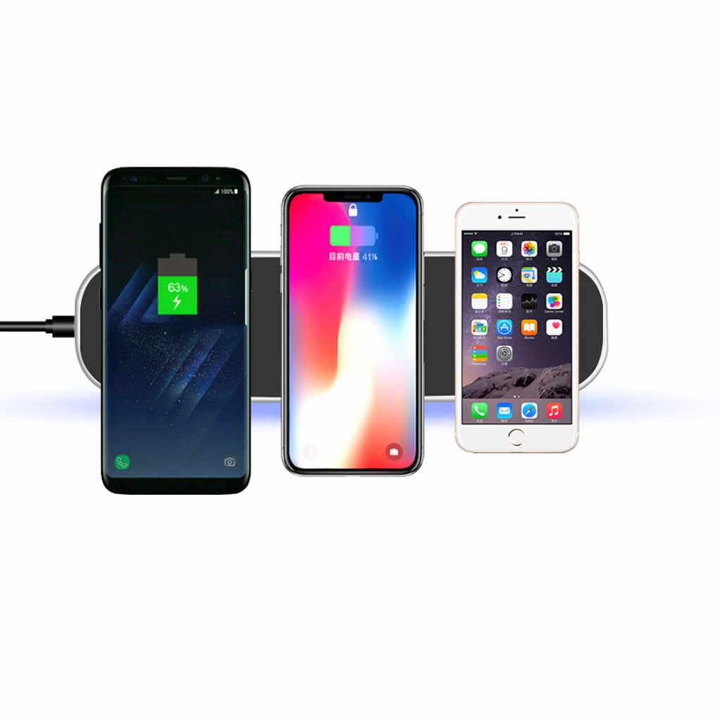 Cargador inalámbrico CARPRIE 3 en 1 para airpods iPhone Pro Apple Watch 4 3 2 QC2.0/QC3.0 carga inalámbrica rápida para Xiaomi Sumsang