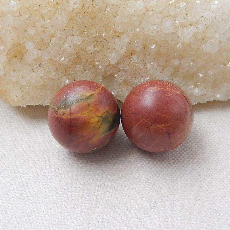 Gems/&JewelsHub JP63 Paire de cabochons en Jaspe maligano en Forme de Poire 35,6 CT