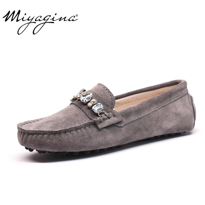 100% Genuine Cowhide Leather Women Shoes Female Casual Fashion Flats Spring Autumn Driving Shoes Women Leather Loafers