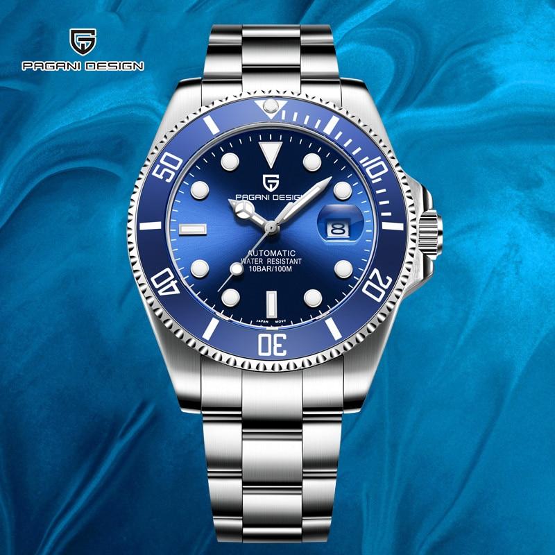 2020 PAGANI DESIGN Brand Luxury Automatic Mechanical Blue Watch Men Waterproof Fashion Mens Mechanical Watches Relogio Masculino