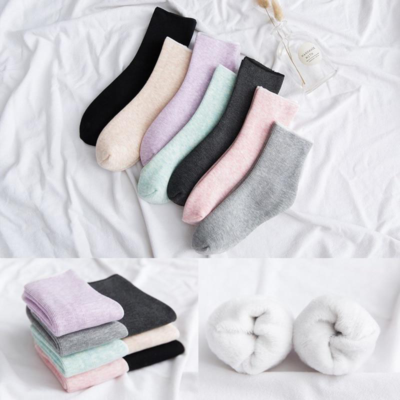 H905084d56e7f44ab8e926930fbeadd269 - Thickening Cashmere Snow Socks Men Women's Autumn And Winter Warm Velvet Solid Casual Thermal Keep Sleeping Socks
