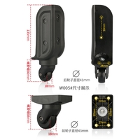 W005 luggage accessories password lock trolley case caster luggage wheel suitcase crocodile trolley case replacement repair part