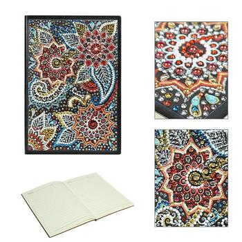 60 Pages With Lines DIY Flower Special Shaped Diamond Painting A5 Notebook Diary Book Resin Rhinestone Special Shaped Drill New фото