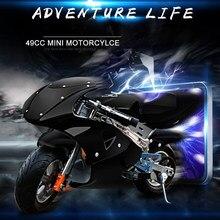 KAWOSEN 2 Stroke zapłon 49CC motocykl Mini kieszeń 120kg Load Bike 2 koła dorosłych dzieci silnik wielobarwne CAMM01-BLACK