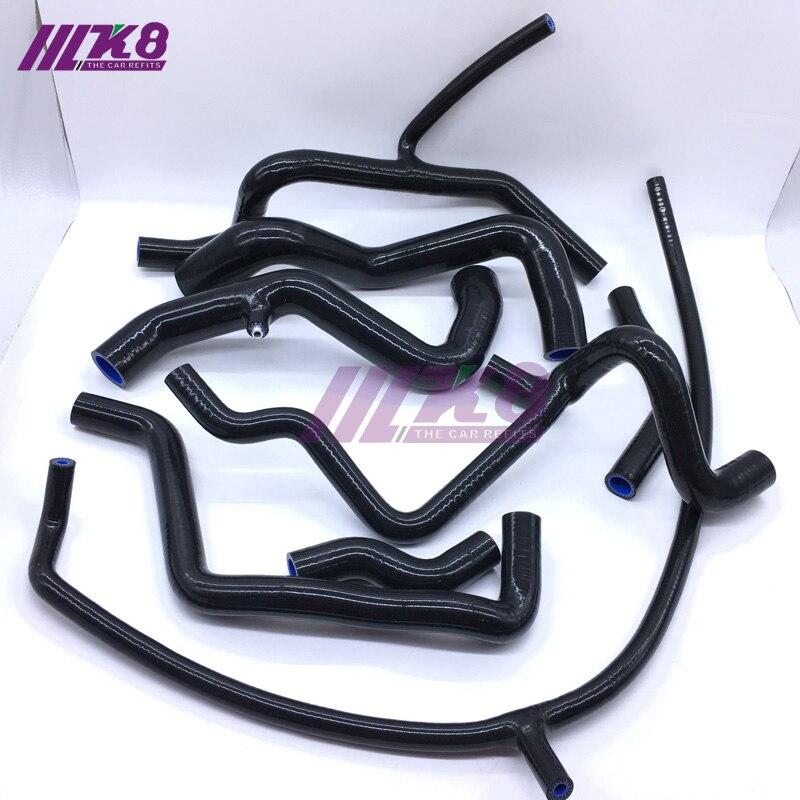 Kit de tuyau de radiateur en Silicone pour V W Corrado VR6 GOLF MK3 VR6 2.8 92-97 (8 pièces) rouge/bleu/noir