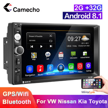 Camecho 2 din Android 8.1 Car Radio Multimedia Video Player Universal auto Stereo GPS 7 HD Autoradio For Nissan TOYOTA Kia VW image