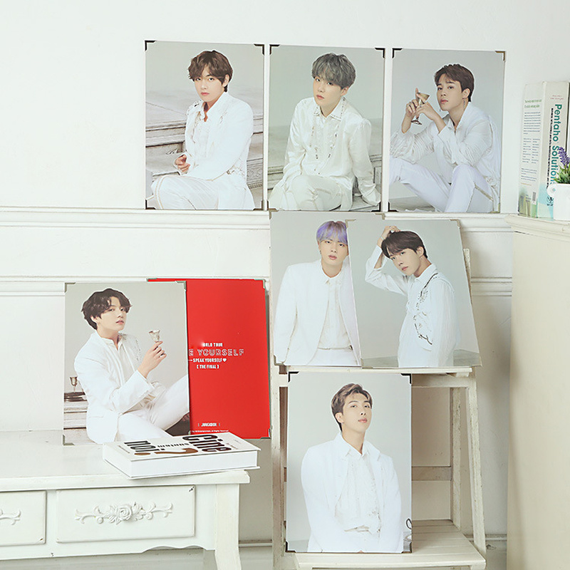 Kpop Love Yourself Photo Frame JUNGKOOK SUGA V JHOPE JIMIN RM JIN World Tour Image Photos Picture Collection Fans Gift(China)