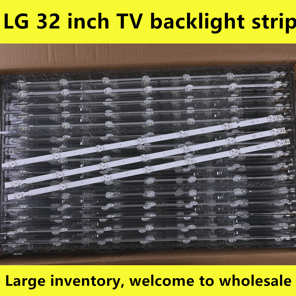 100%NEW For LG 32 Inch LCD Back Light 6916L-1437A B2 2PCS+ 1438A B1 1PCS 1set=3PCS (1PCS=7LED)
