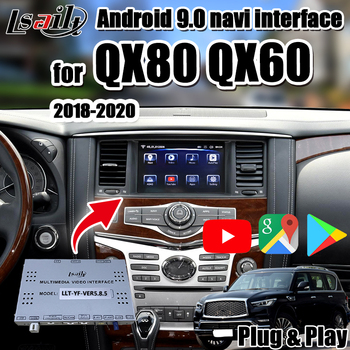 Android 9.0 GPS navigation Box for QX80 Infiniti Android interface support wireless carplay, OEM knob Control by Lsailt image