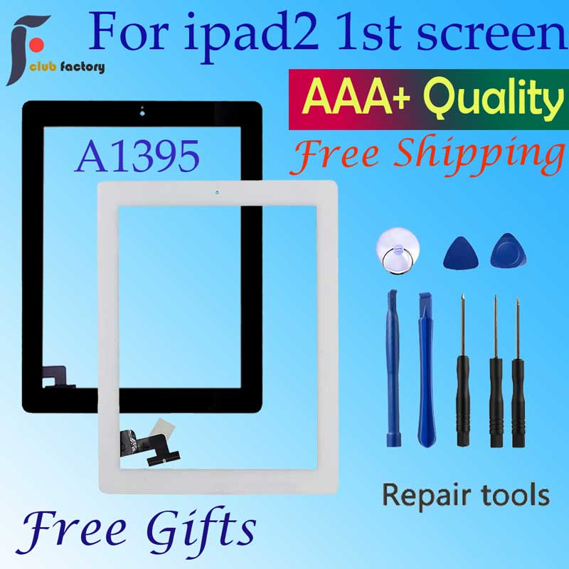 IPad 2 Screen Touch A1395  A1396 A1397 Touch Digitizer Sensor Glass Panel FrameOuter Touch Screen Front Glass Panel Replacement