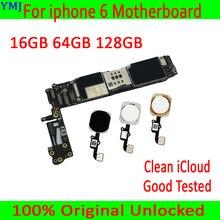 クリーン icloud のための iphone 6 4.7 インチマザーボード/なしタッチ id 、 100% オリジナルロック解除 iphone 6 メインボード + ios システム