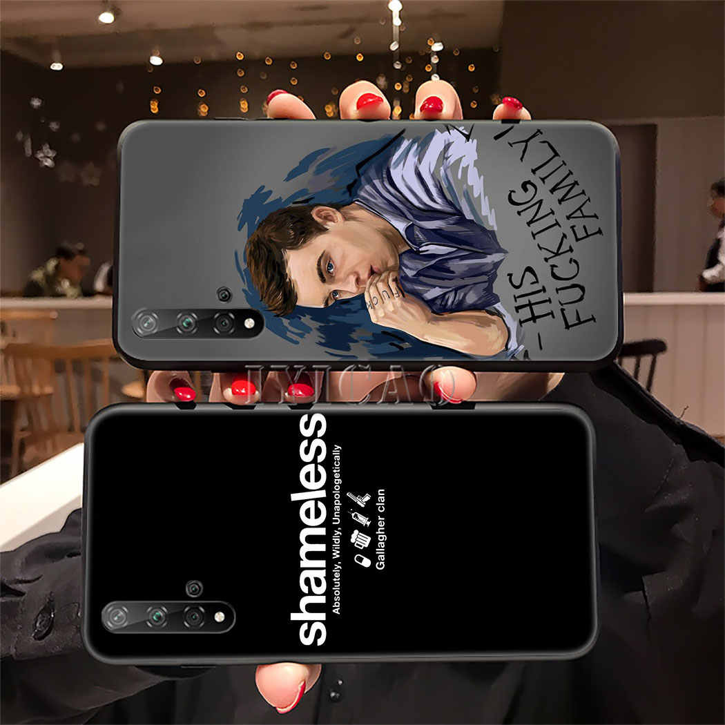 Bibir Gallagher Shameless Kasus Silicone Lembut untuk Huawei Honor 9X20 Pro 7A 7C 7X8 9 10 lite 8X 8C Catatan 10 Tersedia 20 Program TPU Cover