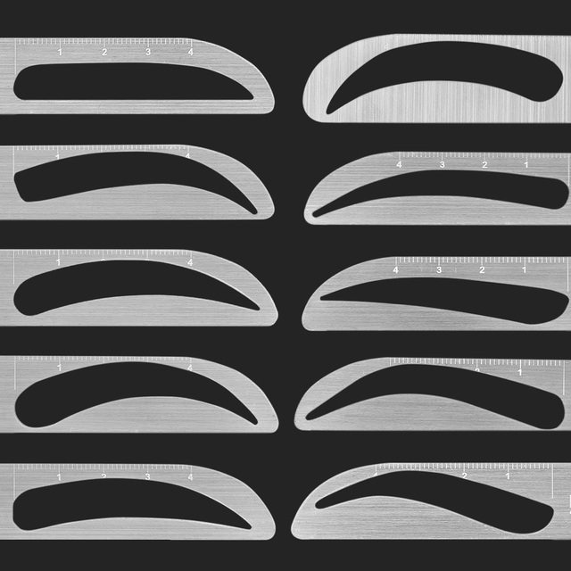 EyeBrow Tattoo Permanent Makeup Rule Microblading Eyebrow Tattoo Stencil Rule Reusable Template Definition Grooming Measure Tool 2