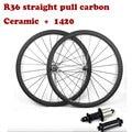 Супер легкий карбоновый дорожный велосипед 700C 38/50/60/88 мм с прямой тягой R36 углеродный концентратор керамический и 1420 аэро спицы