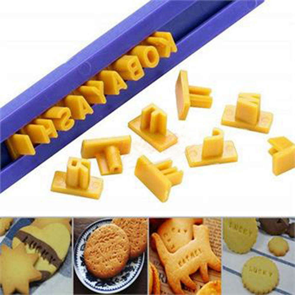 Molds Letter Press-Stamp Biscuit Cookie-Mould Fondant-Mold Embosser Cake-Alphabet New-Arrival title=