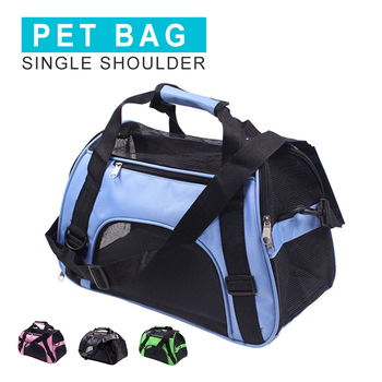 Breathable Dog Bag Single Shoulder Outdoor Travel Portable Foldable Pet Cat Carrier Bags For Small Dogs Dual-use Puppy Handbag