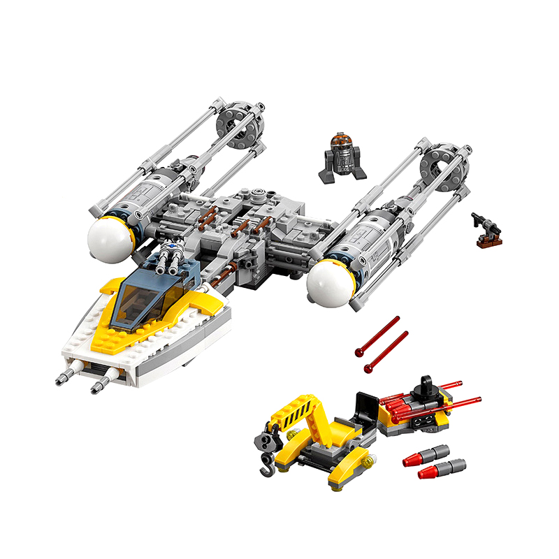 691Pcs Y-Wing Star fighter STAR WARS Building Blocks Bricks Kids Toys Gift Compatible 75172 Star Wars Education Christmas Gift image