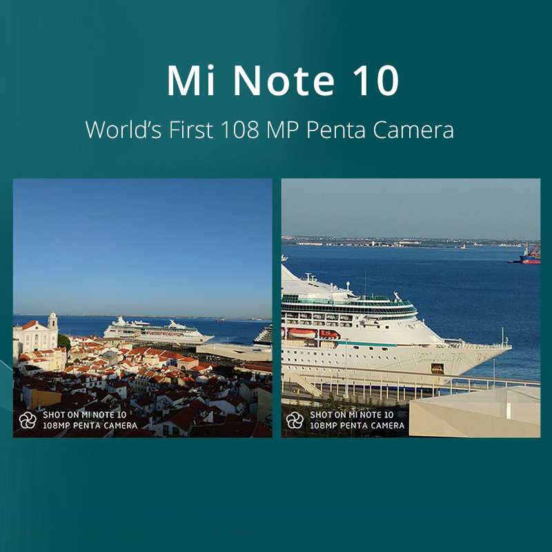 "Xiaomi Mi Hinweis 10 Globale Version 6GB 128GB Smartphone 108MP Penta Kamera Snapdragon 730G 6.47 ""3D curved AMOLED 5260mAh 30W NFC"