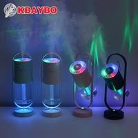 Kbaybo 200 ml elétrica umidificador de ar ultra sônico tomada usb aromaterapia purificador óleo essencial com 7 cores luzes led|Umidificadores|   -