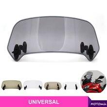 Déflecteur d'air universel de Spoiler de pare-brise d'extension d'écran de vent réglable de moto pour BMW KAWASAKI YAMAHA HONDA SUZUK
