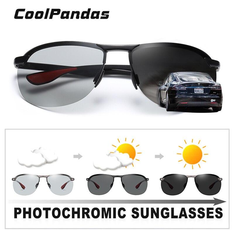 2020 Brand Photochromic Men Sunglasses Polarized Glasses Day Night Vision Driving Sun Glasses For Male Oculos De Sol Masculino 3