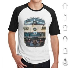 Burlington tête du nord sur t-shirt coton 6Xl Trains de chemin de fer rouille Railfan décroissance abandonnée Trainspotting Trainspotter(China)