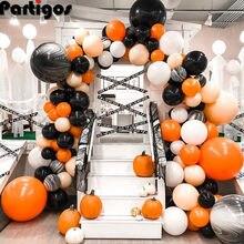 Balão Arco de Balões de Halloween Guirlanda Decoração Kit DIY Kit Grande Laranja Preto Balões De Látex para a Festa de Halloween Decoração de Casa