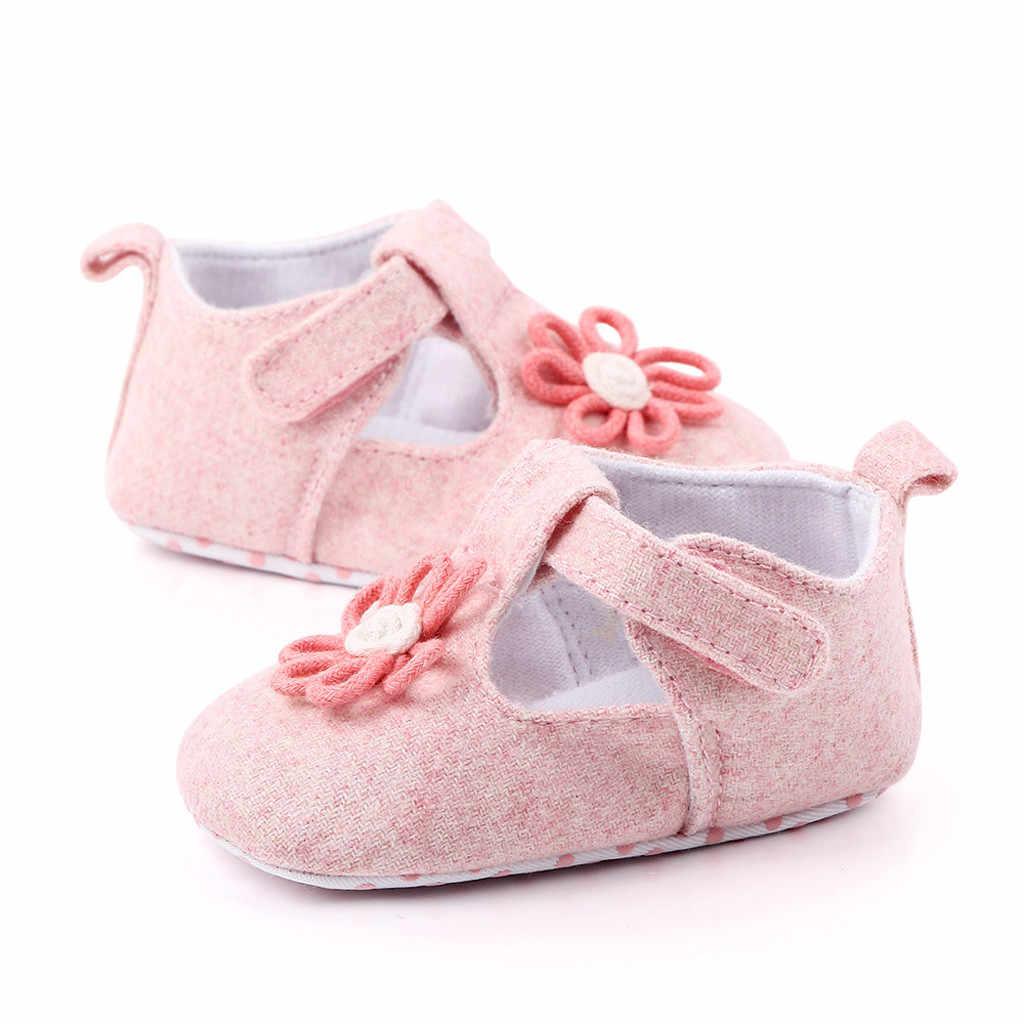 2020 bebés recién nacidos primeros caminadores de flores sólidas zapatos de suela suave zapatillas niños zapatos Sapato Infantil botas precaminantes