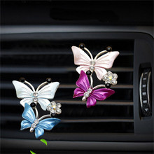Car Air Conditioning Freshener Cute Butterfly Perfume Clip D