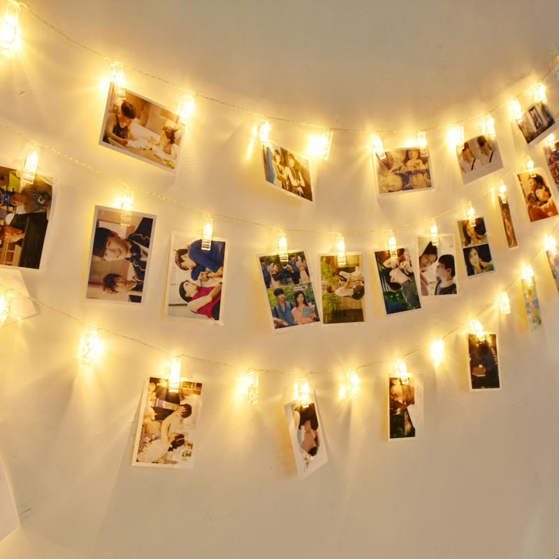 Photo Collage Clip String Lights