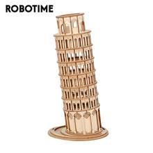 Robotime-Torre Inclinada en 3D de Pisa, 137 Uds., juego de rompecabezas de madera, juguete para regalo Popular para niños, adolescentes y adultos, TG304