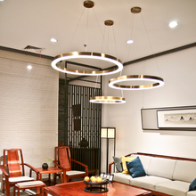 Rose Gold stair chandelier Lighting For Stairwell Living room Hotel Round Ring Chandelier Lamp stainless steel Hangin
