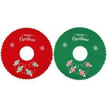 Рождественская елка юбка гофрированная манжета Рождественская елка покрытие для ног ковер новогодний декор рождественские украшения ресторан рождественские принадлежности
