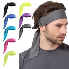Esporte ao ar livre tênis correndo cor sólida pirata bandana unisex treino ciclismo cabeça lenço txtb1