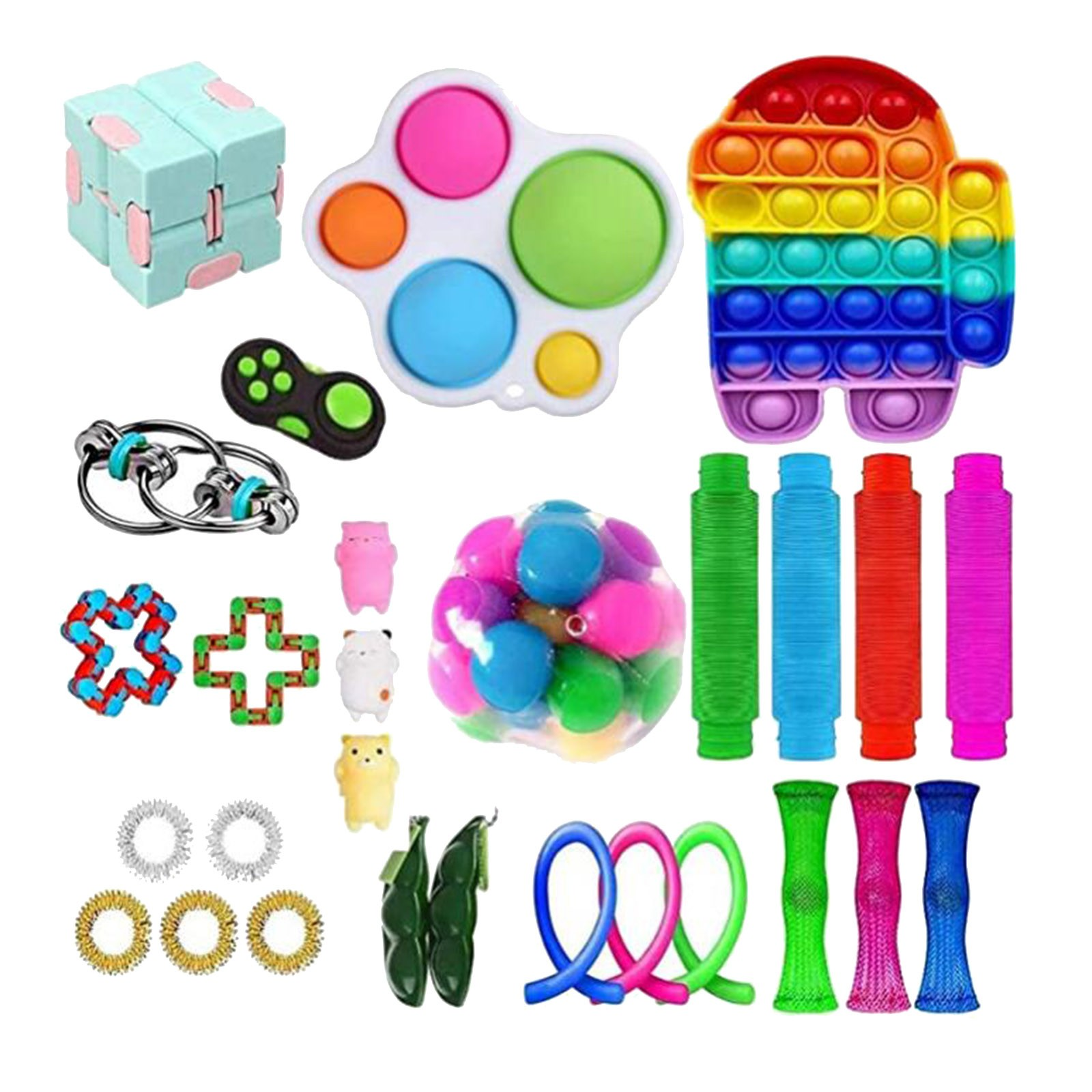 Push Bubble popit Autism New Fidget Toys Special Needs Stress Reliever Helps Relieve Stress and Increase Focus Soft Squeeze Toy img3