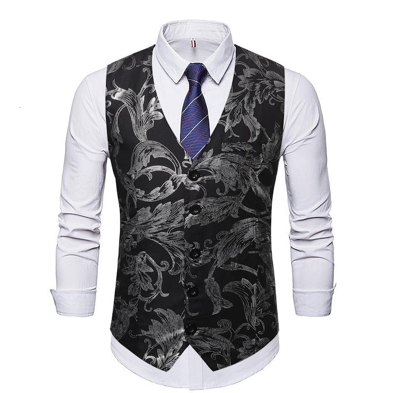 New Arrival Dress Vests For Men Slim Fit Mens Suit Vest Male Waistcoat Gilet Homme Casual Sleeveless Formal Business Jacket V807