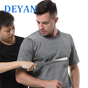 DEYAN EN388 Self Defense Anti Cut Proof T-Shirt PE Material Anti Stab Men's Security Clothes Working Wear Safety Equipment