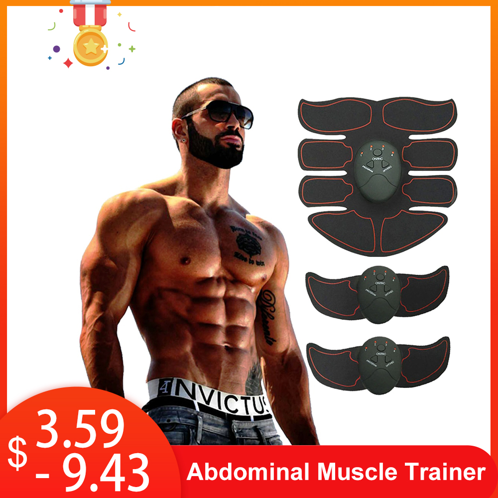 Gym Slimming Fat Burning Exerciser Electric Muscle Training Gym Smart Fitness Muscle Stimulator Abdominal Tool Muscle Stimulator