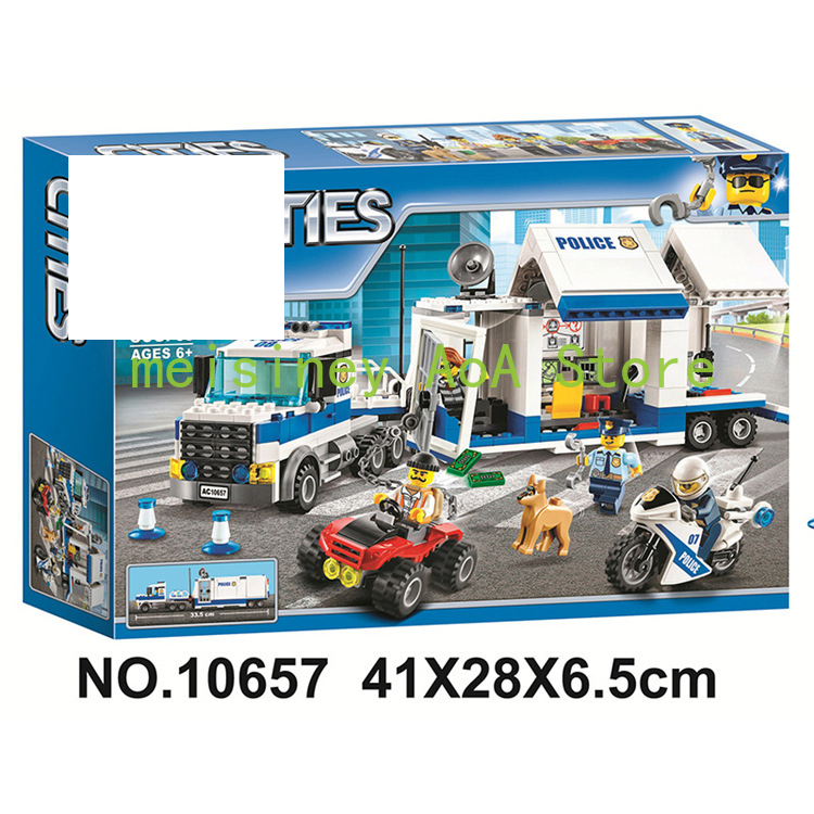 New 02020 965Pcs City Series Compatible With Legoing 60141 Police Station Set Building Blocks Bricks Toys for Children Gifts image