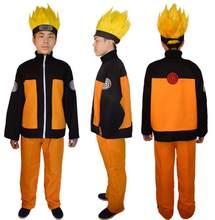 Anime cosplay naruto trajes para o homem mostrar ternos halloween tema festa desempenho japonês dos desenhos animados roupas calças superiores adultos
