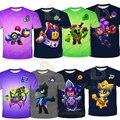 Детская футболка для девочек и мальчиков, футболка с коротким рукавом и объемным изображением единорогов, ворона, шип, Леон, Шелли, футболка,...