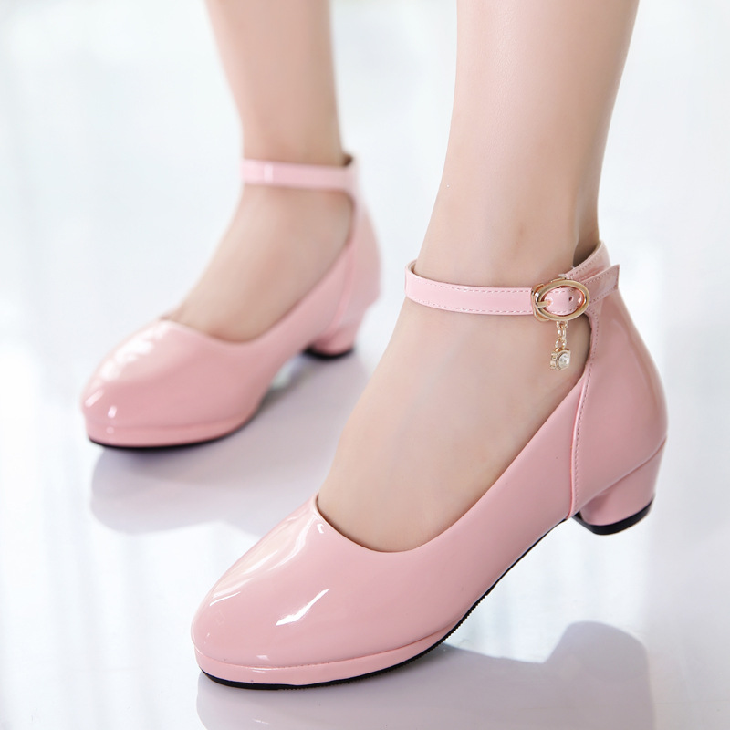 Fashion Patent Leather Princess Shoes Girls Kids Dresses School Shoes Children Party Dance Shoe 3 4 5 6 7 8 9 10 11 12 Year Old