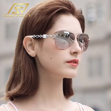 SIMPRECT 2020 Retro Pilot Sunglasses Women Anti-blue