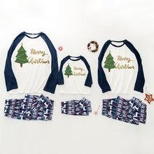 Рождественские пижамы для всей семьи 2020 красная клетчатая
