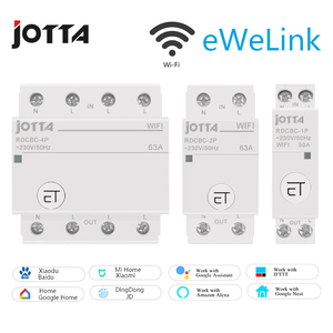 Jotta WiFi Circuit Breaker Remote Control by eWeLink Voice Control With Amazon Alexa and Google Home RDCBC 1P 2P 4P(China)