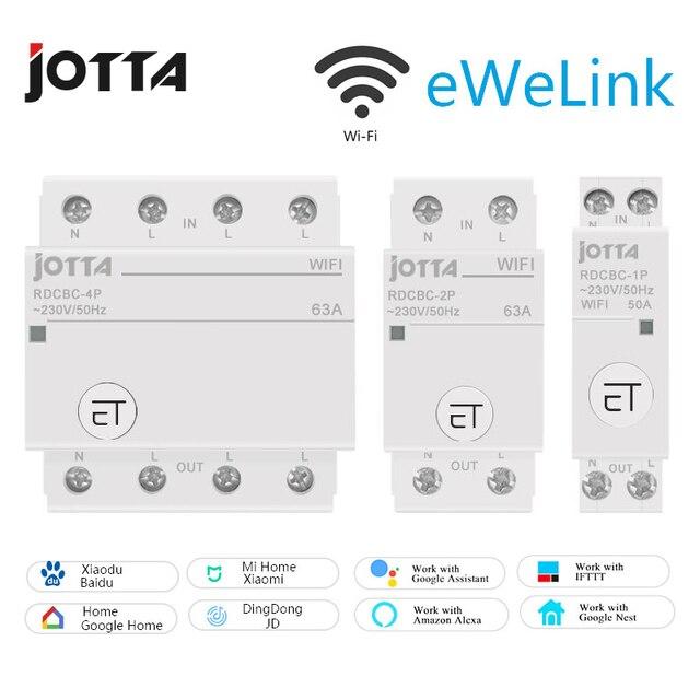 Jotta WiFi disjoncteur télécommande par eWeLink commande vocale avec Amazon Alexa et Google Home RDCBC 1P 2P 4P