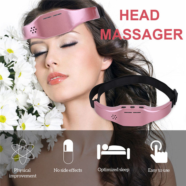 Electric Head Massager Sleep Monitor Migraine Relief Massager Insomnia Therapy Release Stress Sleep Therapy Device Sleeping Di 4