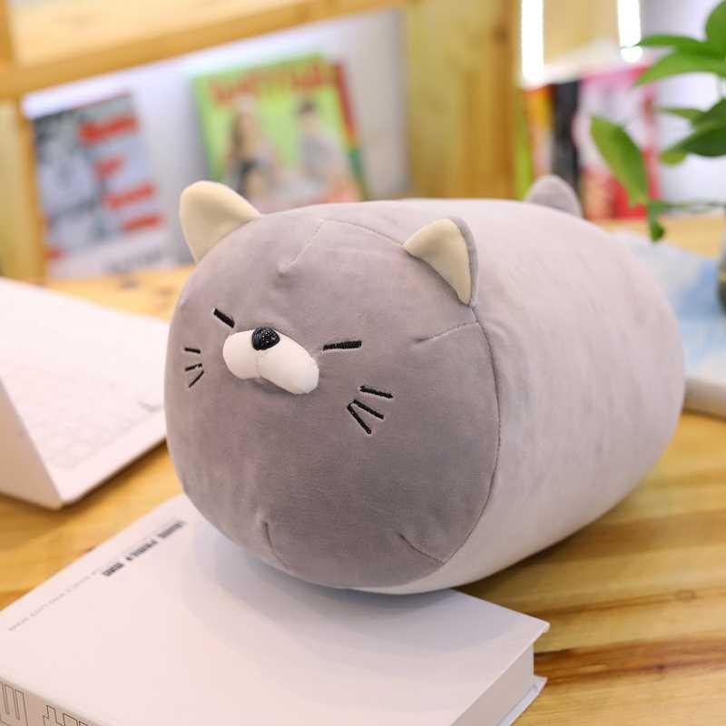 Pusheen קטיפה חתול צעצוע רך כרית ממולא בעלי החיים אמין חתול צעצועי קטיפה חמוד כרית ילדים בובת חתול כרית ילדי חג המולד מתנה