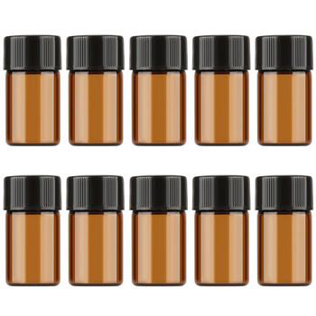20pcs Essential Oil Bottle 1/2/3 ML Thin Glass Small Brown Perfume Oil Vials Sample Test Amber Bottle With Orifice Reducer PVC 30pcs 2ml mini essential oil bottle jar orifice reducer