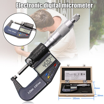 Electronic Micrometer Digital Display 0.001mm 0-25mm Thickness Gauge Multi-function S7 #5